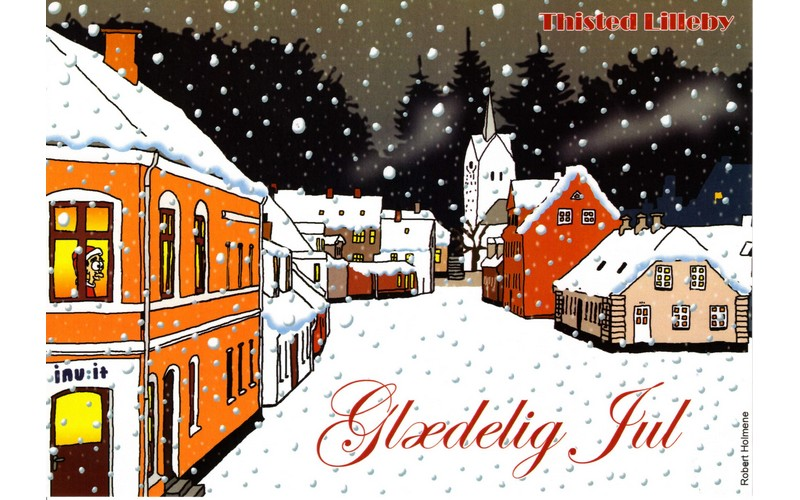 Lilleby som Julekort